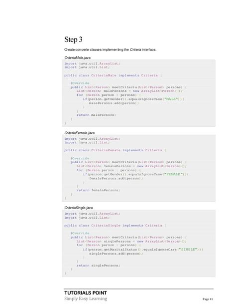 criteria design pattern in java design pattern tutorial