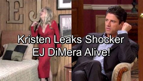 days of our lives spoilers ej dimera alive and returning days of our lives spoilers kristen hints ej s alive