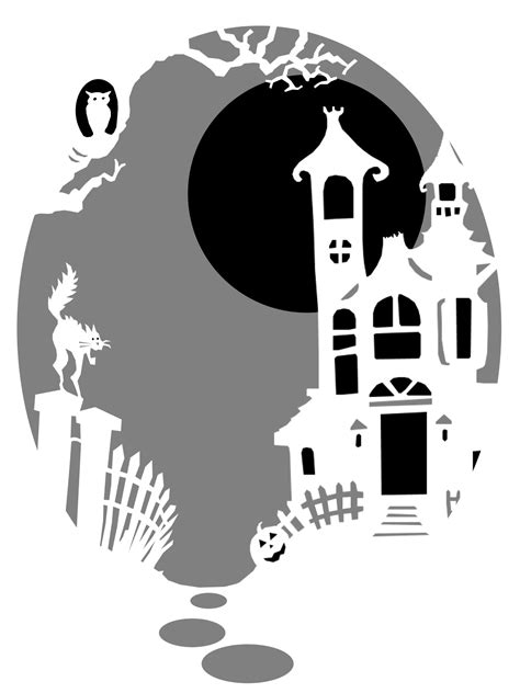 pumpkin pattern haunted house 44 spooky cat pumpkin stencils you ll love carving this