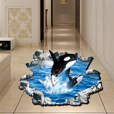 Wall Stiker Dinding Wall Sticker 3 Dimensi Stiker Dekorasi Stiker Anak 3d whale wall sticker animal birds floor stickers living room bathroom home decor wallstickers