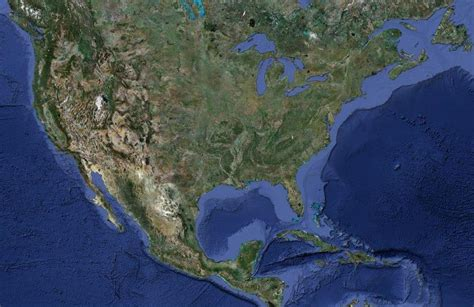 satellite photograph of the united states earth habitat