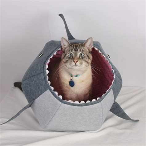 shark cat bed the cat ball cat bed funny pet bed for shark week