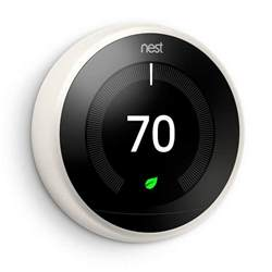 home depot nest nest 3rd generation learning thermostat white t3017us