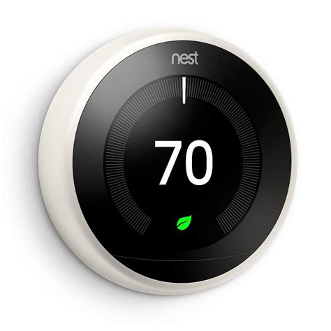 nest 3rd generation learning thermostat white t3017us