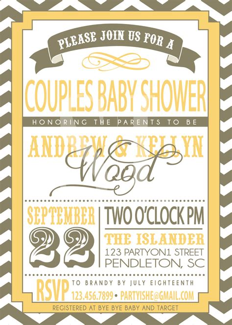 Baby Shower For Couples by Couples Baby Shower Invitation By Sldesignteam On Etsy