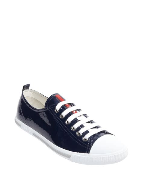 prada sneakers prada women s royal blue leather cap toe sneakers