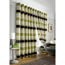 lime green striped curtains chenille stripe curtains ebay