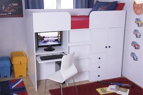 Mid Sleeper Storage by Gfw Galaxy White Wooden Mid Sleeper Bed By Gfw