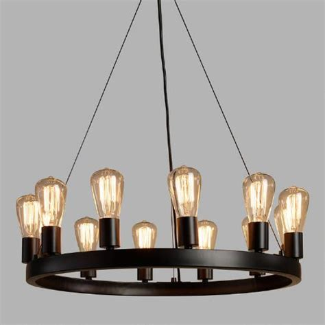 Chandelier Edison Bulbs 12 Light Edison Bulb Chandelier World Market