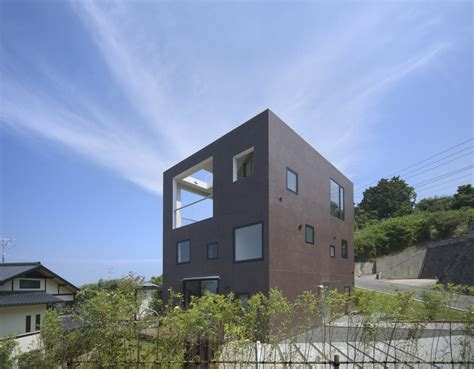 building houses house with square opening nks architects archdaily