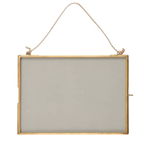 hanging frames hanging brass photo frame by idyll home