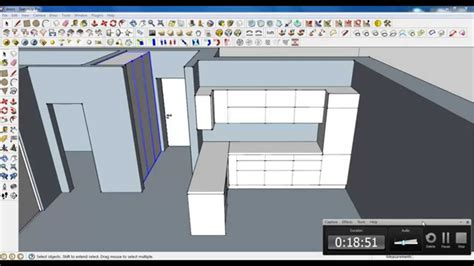 google sketchup kitchen tutorial google sketchup tutorial part 03 kitchen modeling