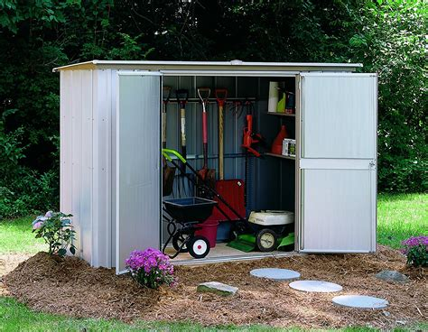arrow shed storage floor large steel patio outdoor garden