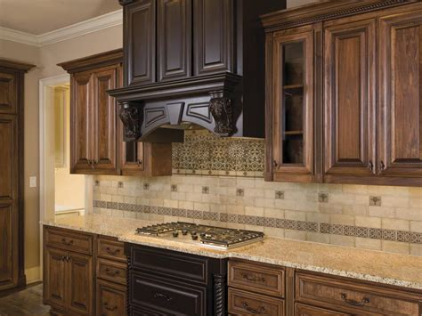kitchen backsplash ideas with brown cabinets joanne