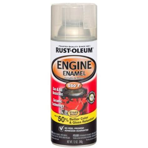 rust oleum automotive 12 oz 550 degree gloss clear ceramic engine enamel spray paint of 6