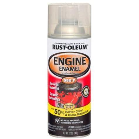 rust oleum automotive 12 oz 550 degree gloss clear ceramic engine enamel spray paint of 6
