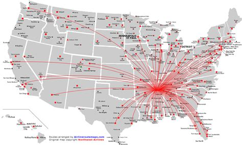airline hubs of north america kids maps northwest airlines route map north america from memphis