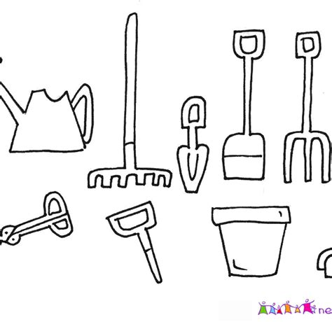 coloring pages of garden tools gardening tools colouring pages garden coloring pages for