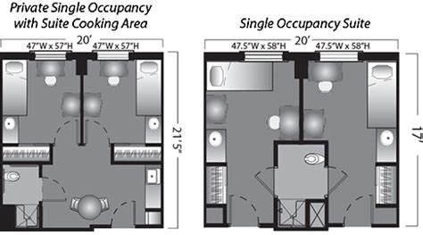 Dorm Room Floor Plan by Legends Hall Housing