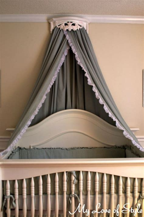 Crown Crib Canopy diy bed crown crib canopy tutorial