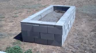 raised garden with cinder blocks building raised garden beds local llano