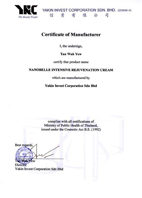 Missing Certificate Letter Indemnity Welcome To Bionutric