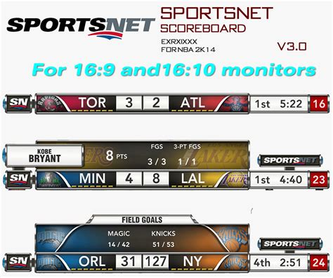 how to mod game center scores nba 2k14 sportsnet scoreboard mod updated to v3 0