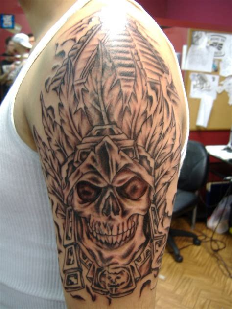 Aztec Tattoos Designs Ideas And Meaning Tattoos For You Aztec Skull Tattoos Designs