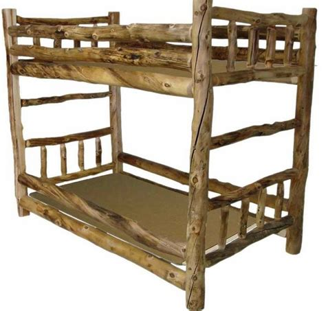 Log Bunk Beds by Aspen Log Bunk Bed Colorado Aspen Beds