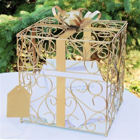 Square Reception Gift Card Holder [228 1943 Wedding Card Holder Box]