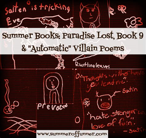 Paradise Lost Book 9 Essay by Automatic Villain Poems Summer Of Funner
