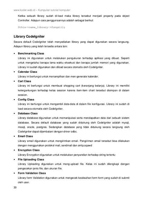 codeigniter xml tutorial framework codeigniter 2 bahasa indonesia