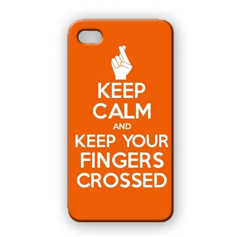 Protect Your Fingers And Iphone From Stds by Keep Calm And Keep Your Fingers Crossed Posters Mugs T