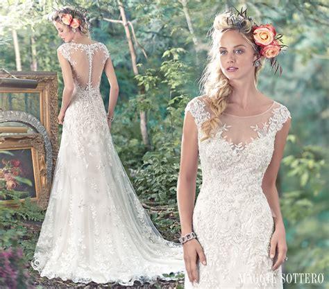 brautkleider romantisch wedding dresses with floral details maggie