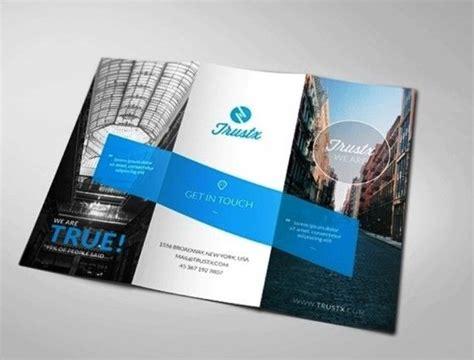 membuat design flyer membuat desain brosur untuk usaha trustx corporate tri