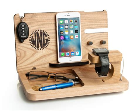 Nightstand Phone Charger mens gift iphone 7 amp apple watch docking station