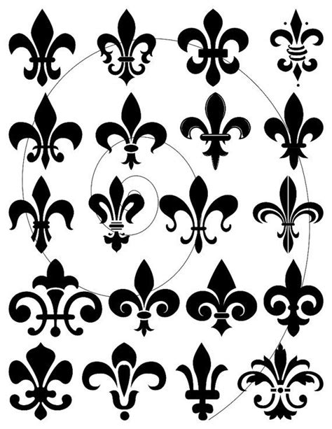collection of 25 fleur de lis collection of 25 maple leaf fleur de lis design