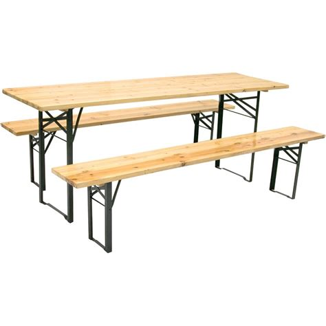 tavoli da sagra set birreria in legno tavolo e 2 panche 200x60h77 cm per