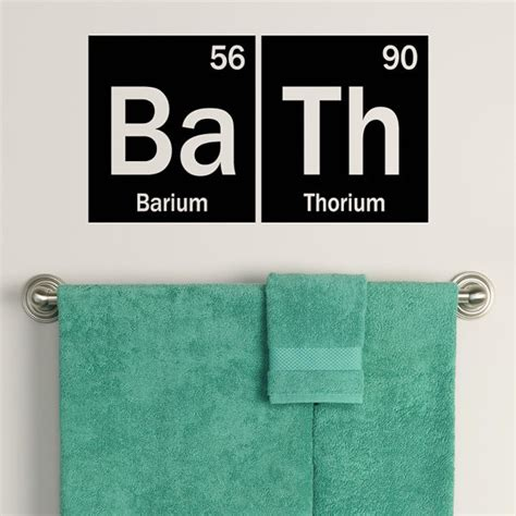 science bathroom decor periodic table bath decal element decor bathroom decals