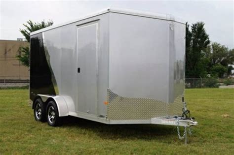 nose aluminum enclosed utv atc motorcycle cargo trailer  complete trailers
