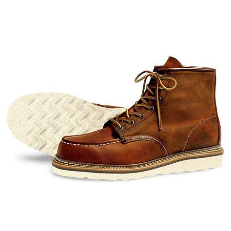 mens moc toe boot wing heritage s 1907 6 inch moc toe boot moosejaw