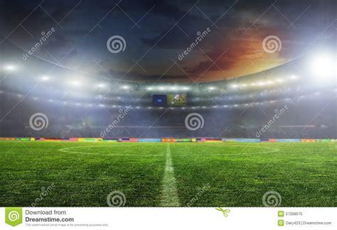 football stadium lights prices soccer ball on the field of stadium stock photo image