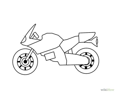 motorcycle coloring pages easy draw a motorcycle