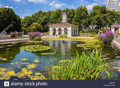 kensington garden the italian gardens kensington gardens london stock