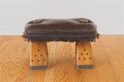 vintage leather saddle stool homestead seattle