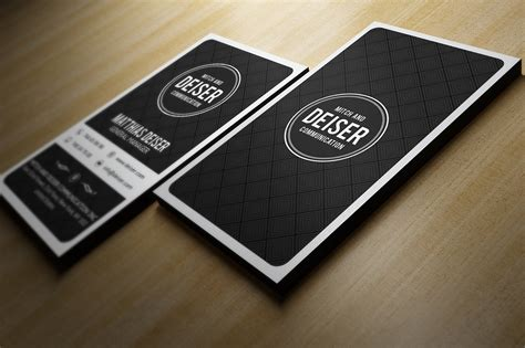black  white business card business card templates