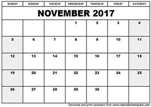 november calendar template november 2017 calendar template printable calendar templates