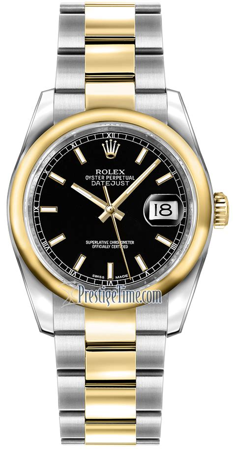 Pink Afrika 0055 116203 black index oyster rolex datejust 36mm stainless