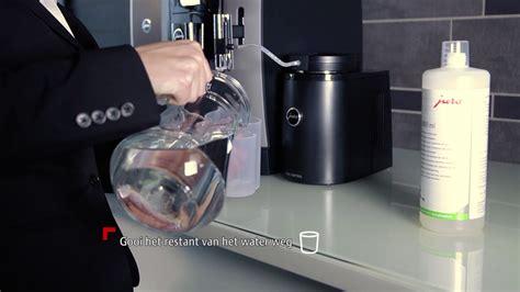 jura koffiemachine reinigen instructiefilm melk reinigen jura professional we8