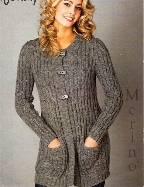 knit pattern long sweater coat ladies long line cable cardigan knitting pattern pdf dk